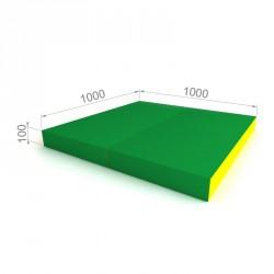 Складной мат (4x) 100x100  Blue