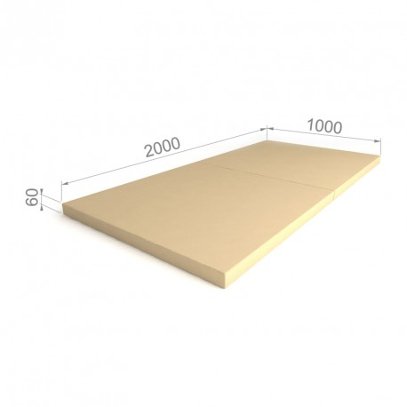 Folding mat 100x100 Blue-Yellow