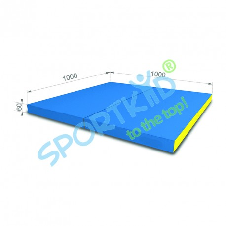 Folding mat 100x100 Blue-Yellow