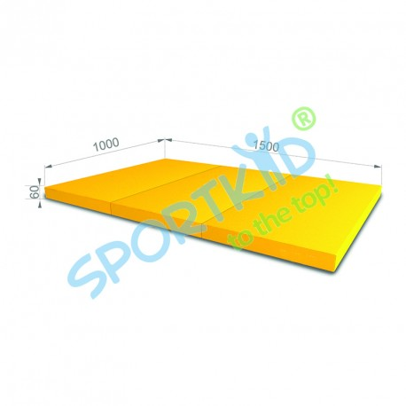 Folding mat 150x100 Blue-yellow